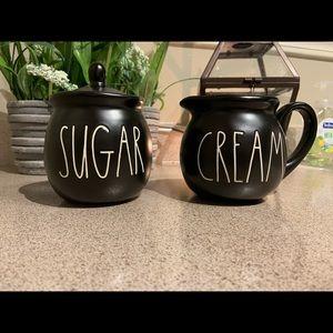 NEW Rae Dunn cream and sugar set
